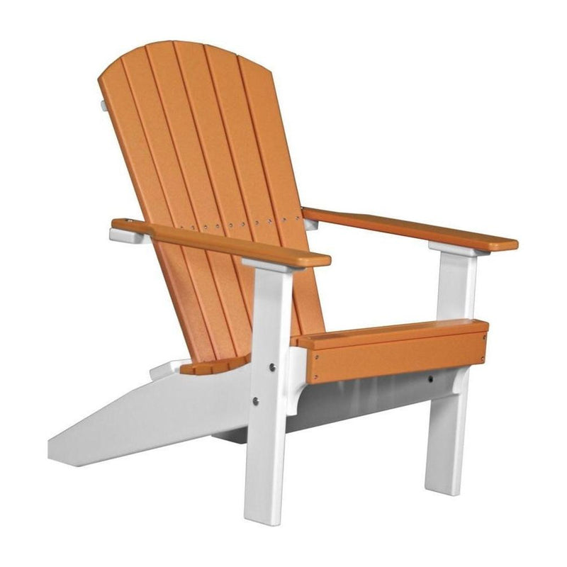 Lakeside Adirondack Chair Tangerine & White