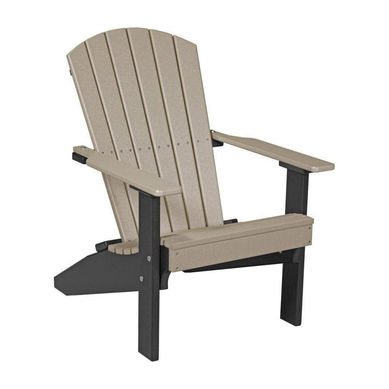 Lakeside Adirondack Chair Weatherwood & Black