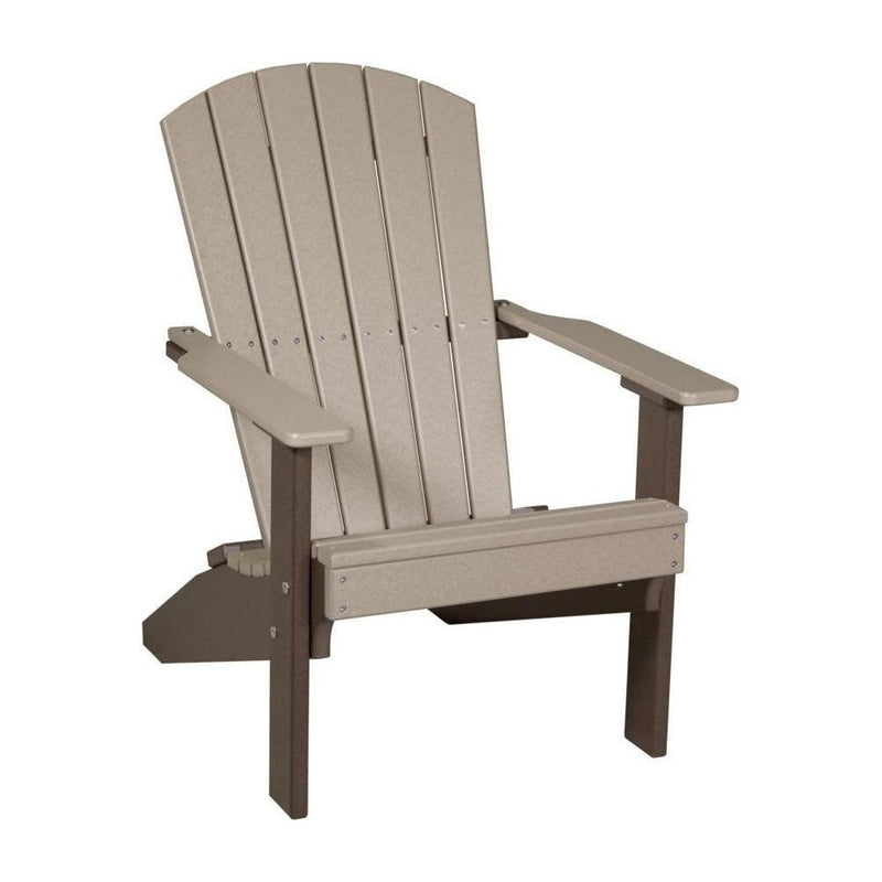 Lakeside Adirondack Chair Weatherwood & Chestnut Brown