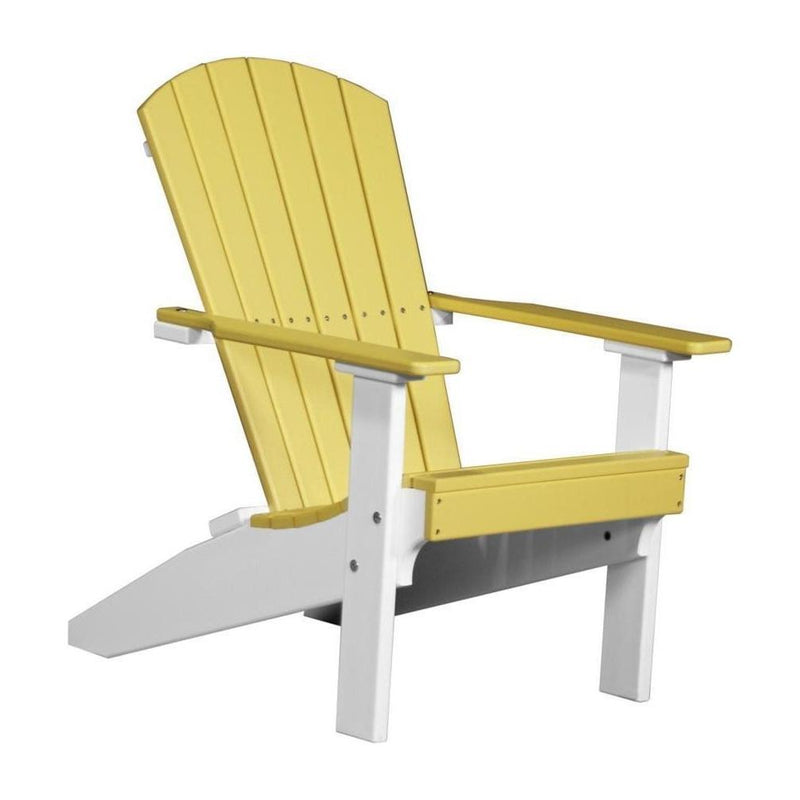 Lakeside Adirondack Chair Yellow & White