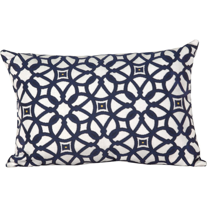 Outdoor Lumbar Pillow Luxe Indigo
