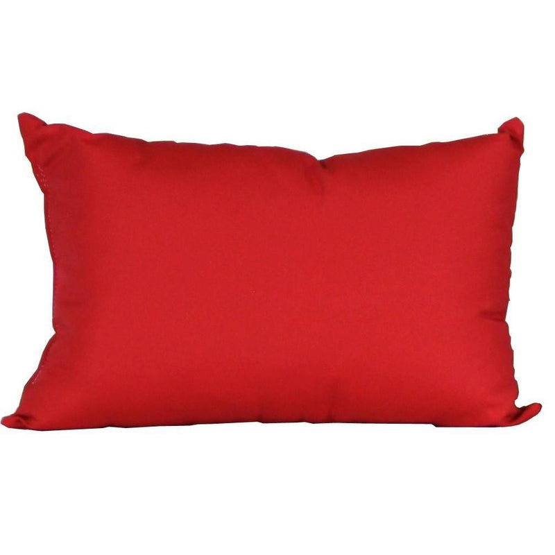 Outdoor Lumbar Pillow Logo Red