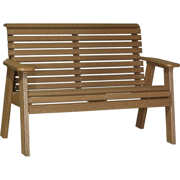 Plain Outdoor 4' Bench Antique Mahogany