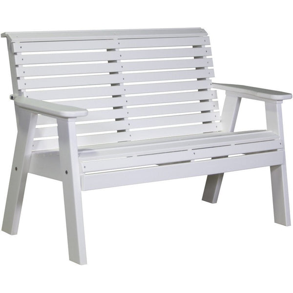 Plain Outdoor 4' Bench White