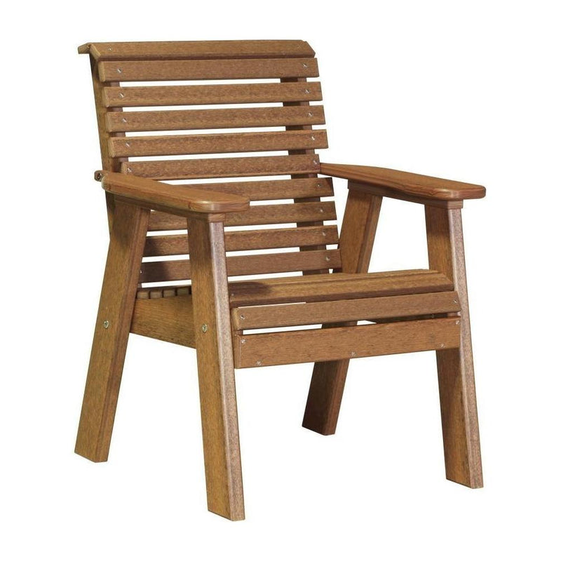 Plain Outdoor Bench Chair Antique Mahogany