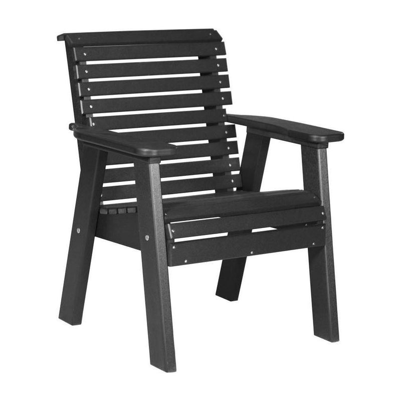 Plain Outdoor Bench Chair Black
