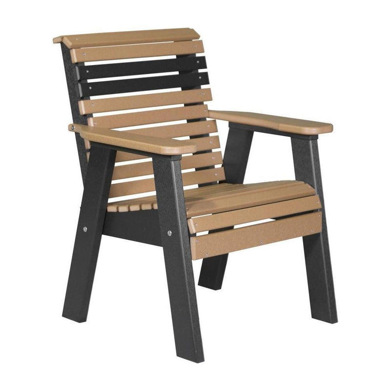 Plain Outdoor Bench Chair Cedar & Black