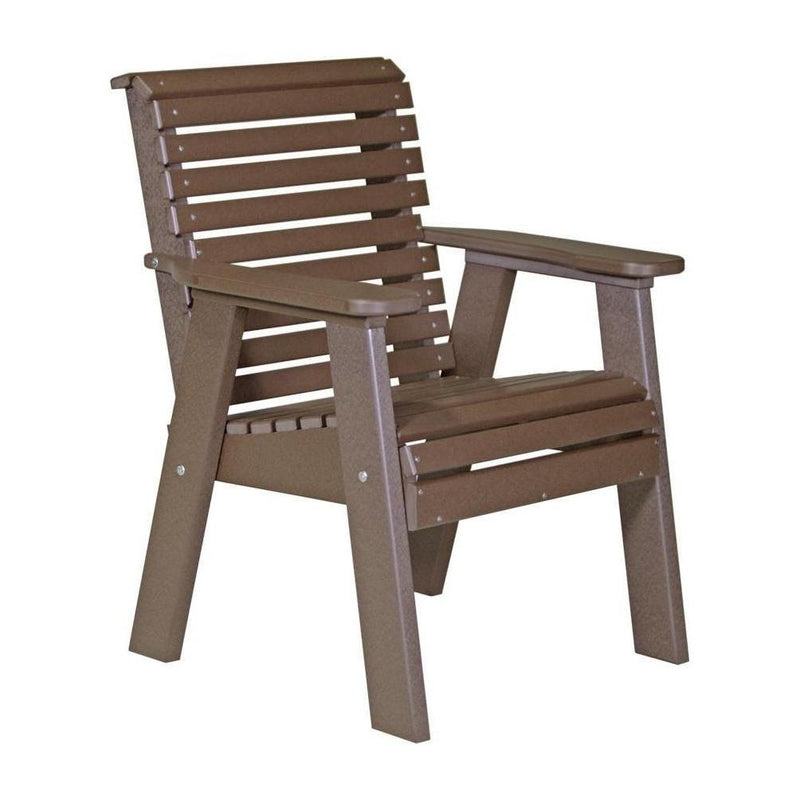 Plain Outdoor Bench Chair Chestnut Brown