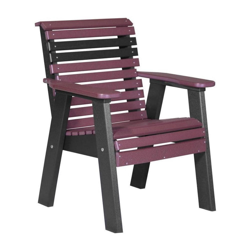 Plain Outdoor Bench Chair Cherrywood & Black
