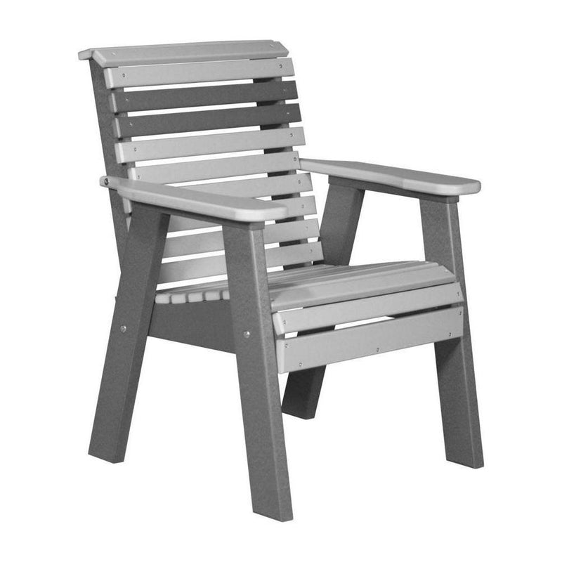 Plain Outdoor Bench Chair Dover Grey & Slate