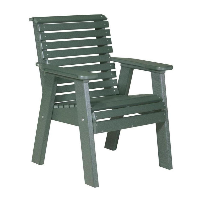 Plain Outdoor Bench Chair Green