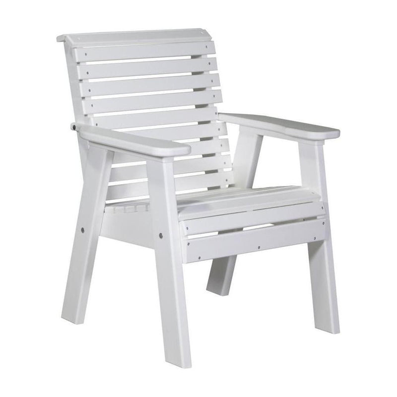 Plain Outdoor Bench Chair White