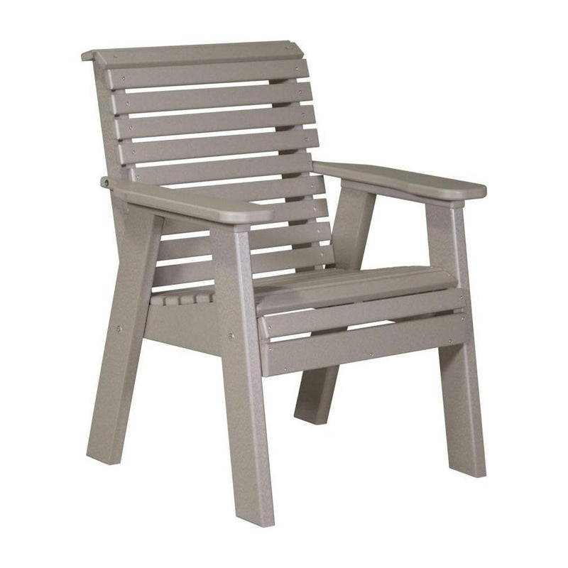 Plain Outdoor Bench Chair Weatherwood