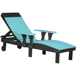 Outdoor Poly Lounge Chair Aruba Blue & Black