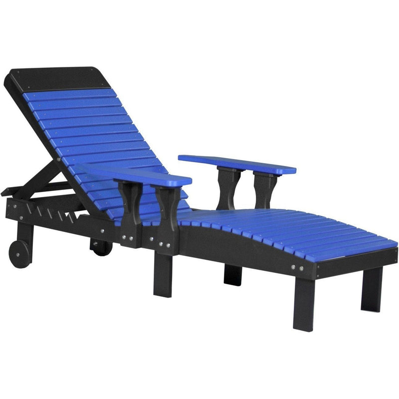 Outdoor Poly Lounge Chair Blue & Black