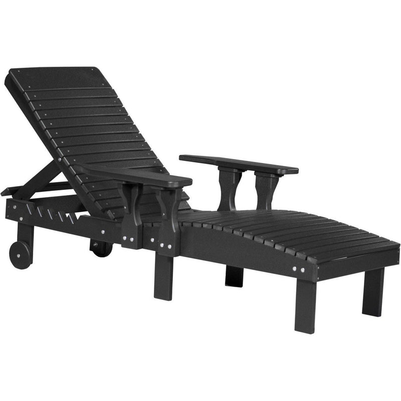 Outdoor Poly Lounge Chair Black