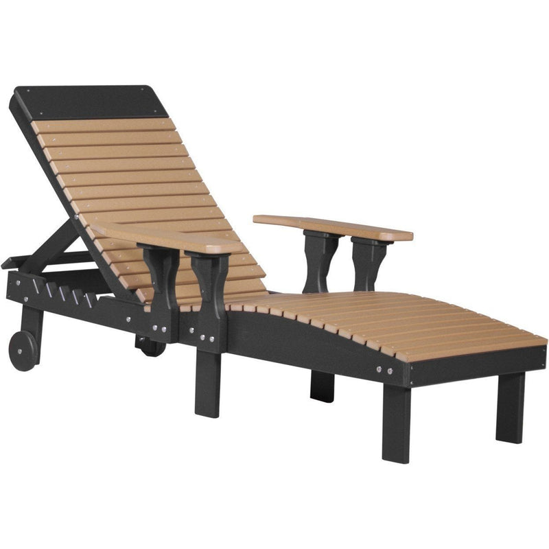 Outdoor Poly Lounge Chair Cedar & Black
