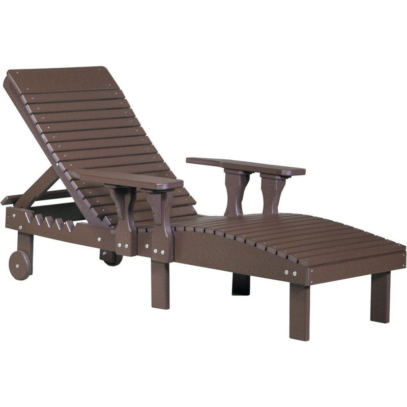Outdoor Poly Lounge Chair Chestnut Brown