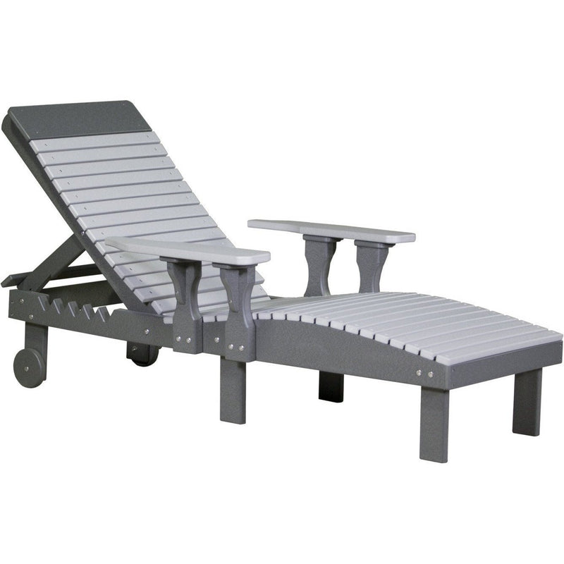 Outdoor Poly Lounge Chair Dove Grey & Slate