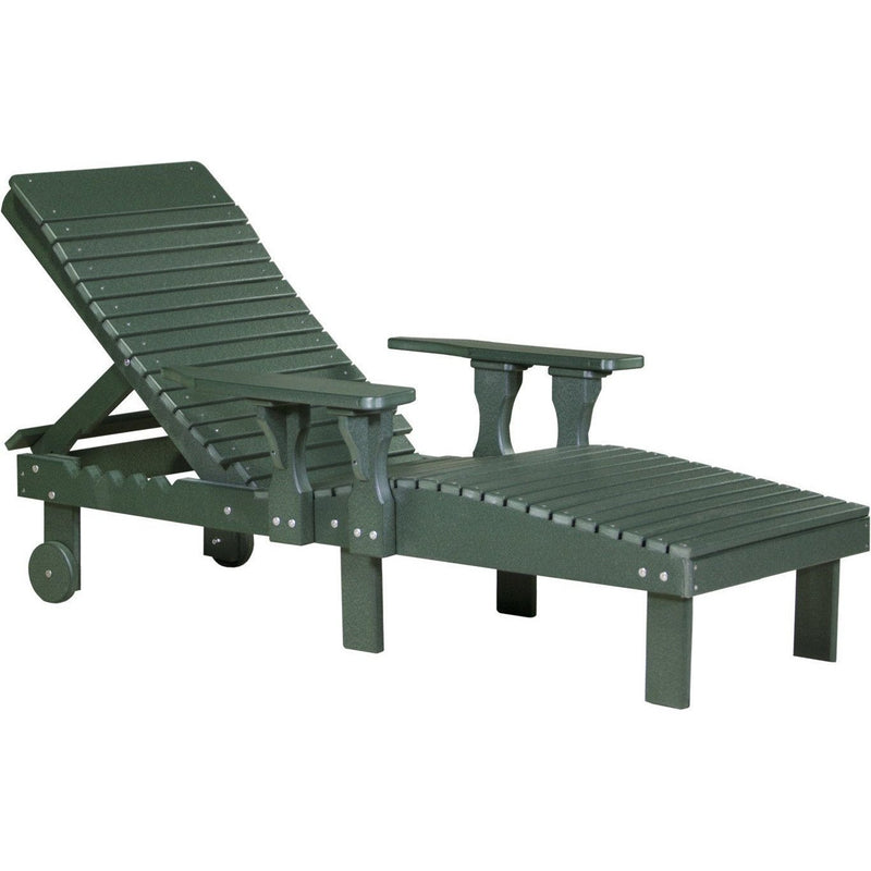 Outdoor Poly Lounge Chair Green