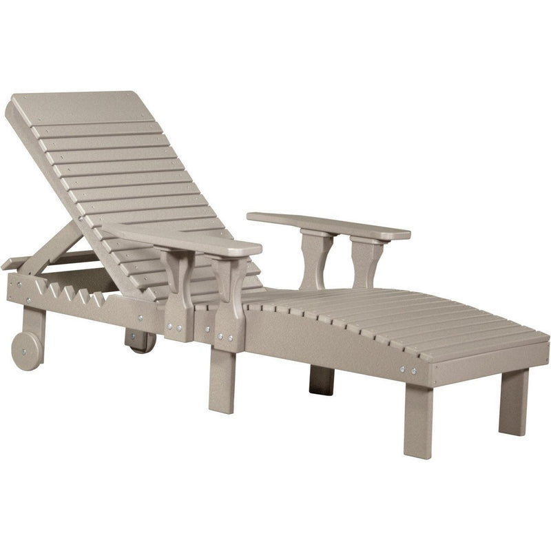 Outdoor Poly Lounge Chair Weatherwood