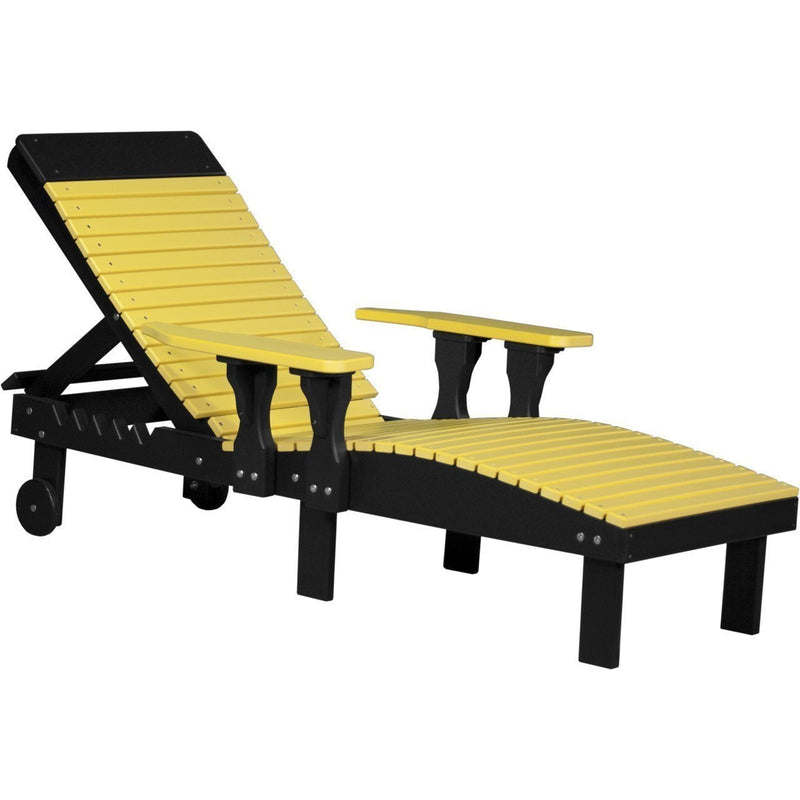 Outdoor Poly Lounge Chair Yellow & Black