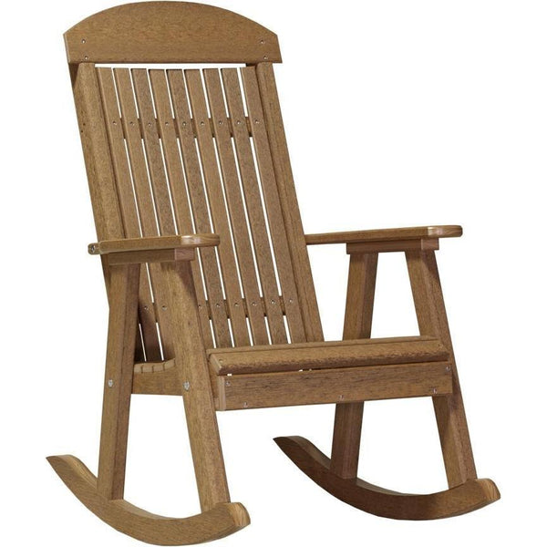 Outdoor Poly Porch Rocker Antique Mahogany
