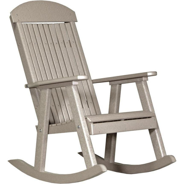 Outdoor Poly Porch Rocker Weatherwood