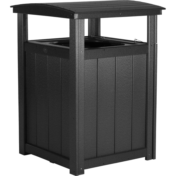 Outdoor Poly Trash Can Black