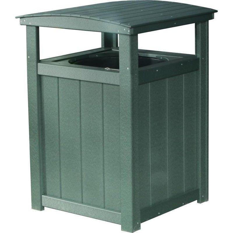 Outdoor Poly Trash Can Green