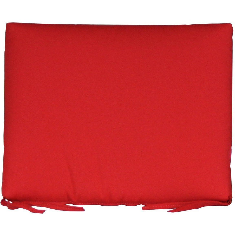 Outdoor Rocker Seat Cushion Logo Red