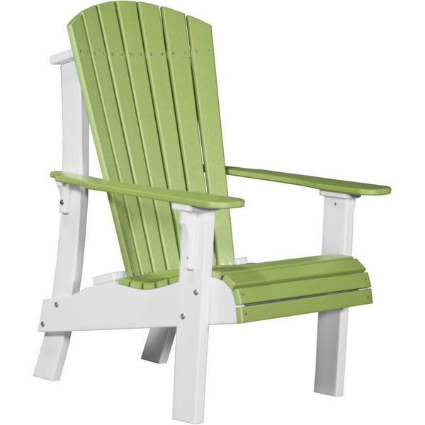 Royal Adirondack Chair Lime Green & White
