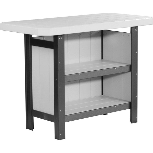 Island Serving Bar Dove Grey & Black
