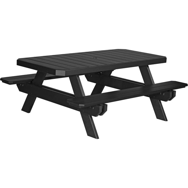 Amish Luxcraft PolyTuf 6' Outdoor Picnic Table