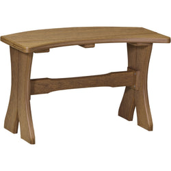 "Outdoor 28"" Table Bench Antique Mahogany"