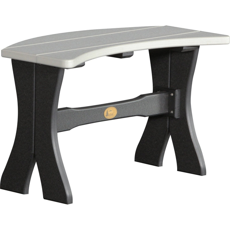 "Outdoor 28"" Table Bench Dove Grey & Black"