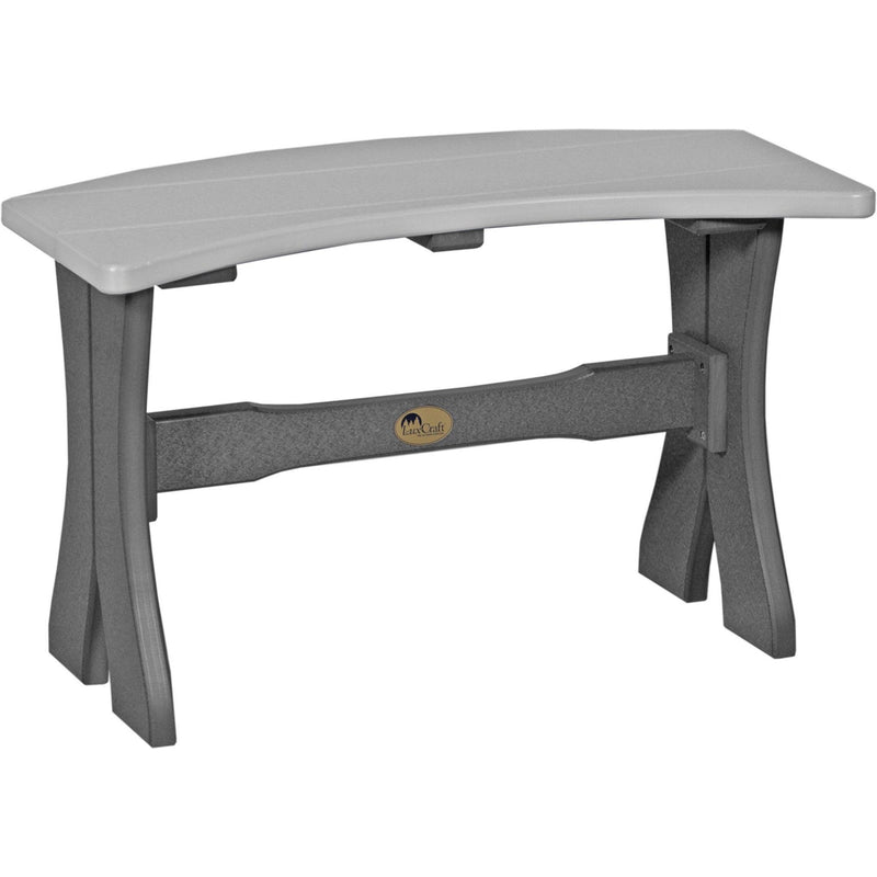 "Outdoor 28"" Table Bench Dove Grey & Slate"