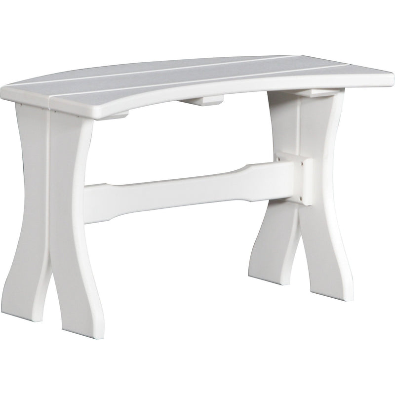 "Outdoor 28"" Table Bench White"