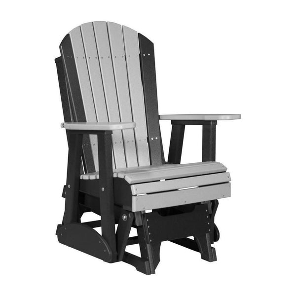 Adirondack Glider Dove Grey & Black