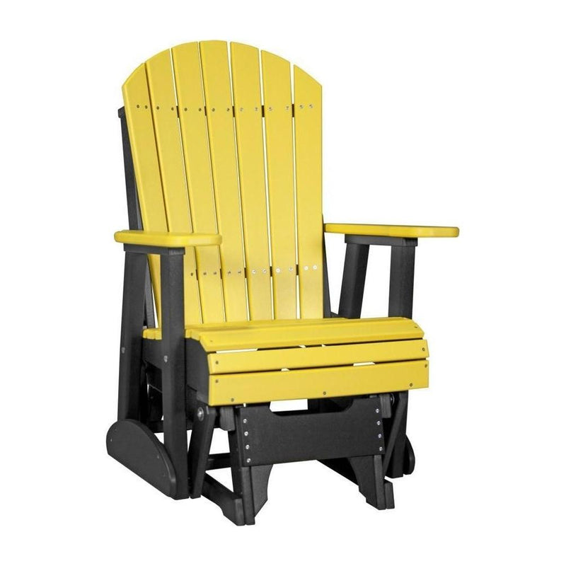 Adirondack Glider Yellow & Black