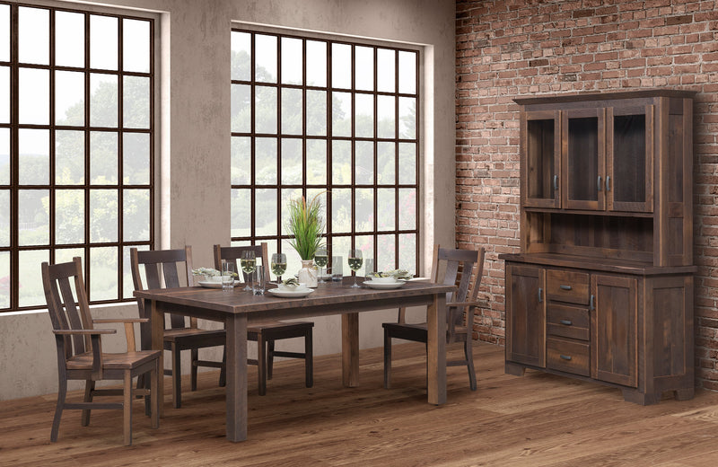 Oxford Reclaimed Barnwood Dining Table room shot