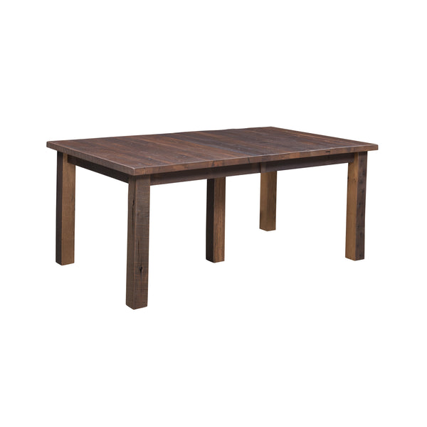 Oxford Reclaimed Barnwood Dining Table with leaf option