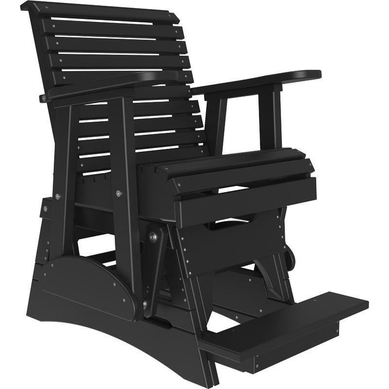 2' Plain Balcony Glider Black-The Amish House