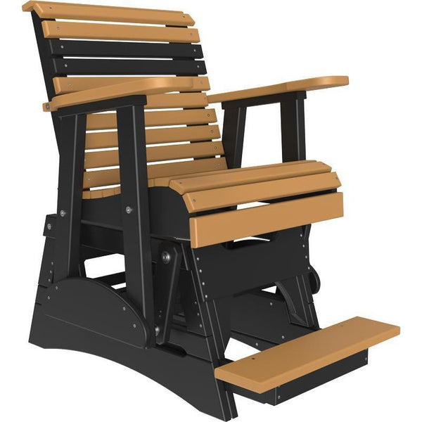 2' Plain Balcony Glider Cedar & Black-The Amish House