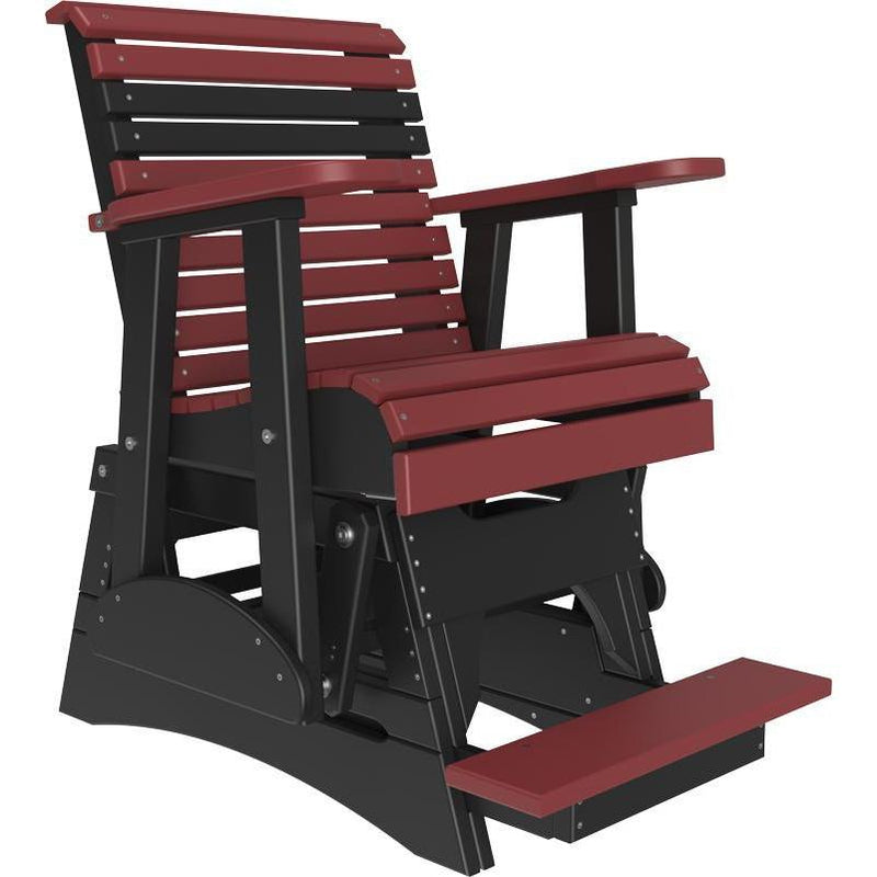 2' Plain Balcony Glider Cherrywood & Black-The Amish House