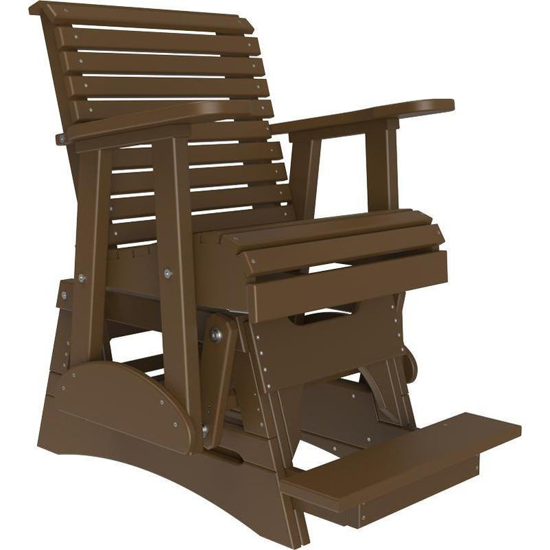 2' Plain Balcony Glider Chestnut Brown-The Amish House
