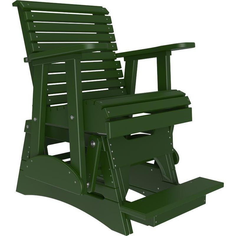 2' Plain Balcony Glider Green-The Amish House