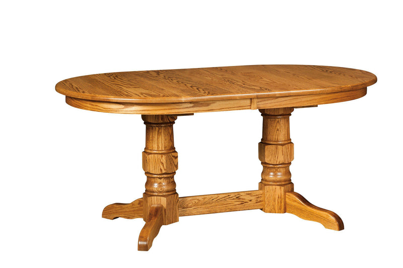 Preston Double Pedestal Table-The Amish House