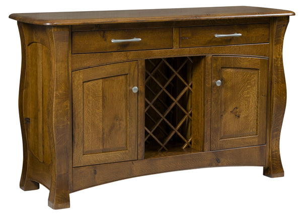 Reno Sideboard with Wine Rack-The Amish House