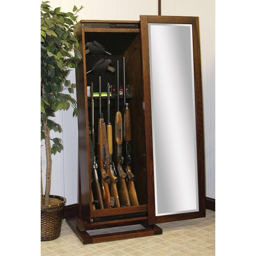 Rough Sawn Rifle Cabinet